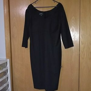Lauren Ralph Lauren Dark Gray Fitted Formal Dress